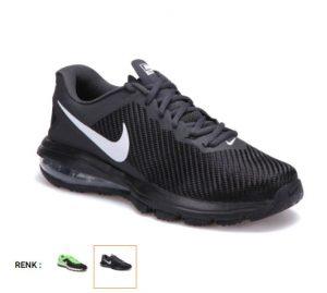 nike air max siyah erkek fitness ayakkabısı